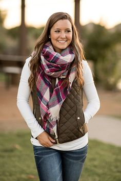 Fall Fashion, Fall Vest, Quilted Vest, Olive Vest, OOTD- Just Chill'in Vest-Olive by Jane Divine Boutique www.janedivine.com