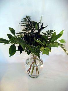 filler foliage - leather fern and salal leaf