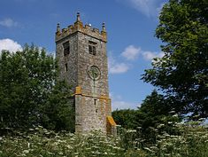 The old bell tower at Illogan Church. The new church of 1844 is a joy to film in, bright and sunny.