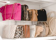 A Mix of Min provides tips on optimizing closet space with The Container Store and their customer Elfa closets. Shipping Container Design, Cargo Container Homes, Container Cabin, The Container Store, Elfa Closet, Closet Space, Handbag Organization, Closet Organization, Store Purses