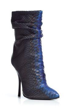 Black/Electric Blue Python Print Half Boots by GIUSEPPE ZANOTTI