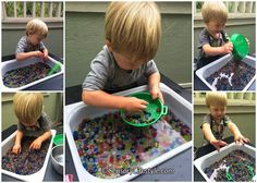 Edible water beads: great for fine motor skill development Infant Sensory Activities, Tactile Activities, Baby Sensory Play, Fine Motor Skills Development, Toddler Development, Water Beads, Toddler Preschool, Parenting Hacks, Kids Rugs