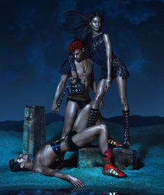 Absolutely in AWE of the new Versace campaign images of Joan Smalls!!! IN. AWE!!!