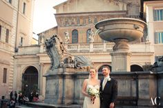 In the background Mark and Duke's beautiful church. Congratulations!! www.weddingsinrome.com