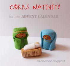 Nativity with corks