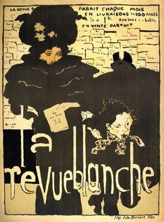 For Sale on - Pierre Bonnard 1894 La Revue Blanche Art Nouveau poster. Pierre Bonnard (French, La Revue Blanche, 1894 Lithograph in colors on wove paper Printed Vintage French Posters, Poster Vintage, French Vintage, French Art, Vintage Ads, Art Nouveau Poster, Poster Art, Retro Poster, Art Posters