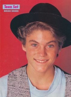 BRIAN AUSTIN GREEN pinup - Young and cute in hat! - ZTAMS