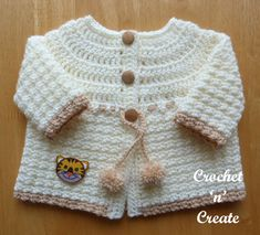 Free Baby Patterns, Baby Sweater Patterns, Baby Girl Dress Patterns, Baby Clothes Patterns, Crochet Patterns, Clothing Patterns, Crochet Ideas, Knitting Patterns, Sewing Patterns