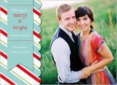 Merry Bright Ribbon 5x7 Photo Card by A Fresh Bunch | Shutterfly