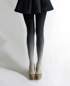 Ombre Tights. Want.