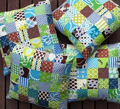 Without further ado: These four pillows are a Christmas gift for my mother and are custom made to fit rush covered kitchen chairs. ...