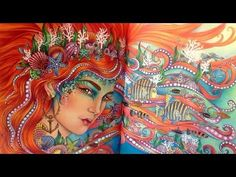 Silvia Colwell: DAGDRÖMMAR (DAYDREAMS) Coloring Book by Hanna Karlzon - All Pages; you tube 8:20; May 21, 2016