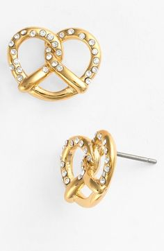 Free shipping and returns on MARC BY MARC JACOBS 'Salty Pretzel' Stud Earrings at Nordstrom.com. Dainty crystals salt a pair of quirky pretzel-shaped stud earrings perfect for day at the county fair, ballgame and beyond.