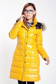 Price Reduced outlet Moncler Women down Jacket Yellow 122 factory outlet