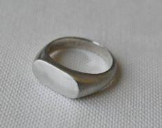 925 Sterling Silber Männer Ring ovalen von silveringjewelry auf Etsy