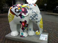 Title: DJ Ella Artist: Hanne Ravn Hermansen Location: Østre Anlæg African Forest Elephant, Asian Elephant, Baby Elephant, Elephas Maximus, City Events, Colorful Elephant, Elephant Parade, Piggy Bank, Copenhagen