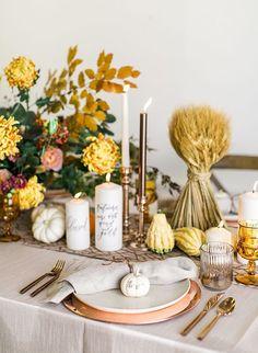Copper Thanksgiving Tablescape