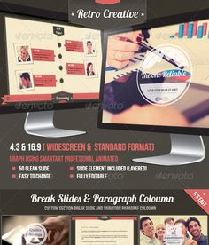 Retro Business Creative Agency Powerpoint Template