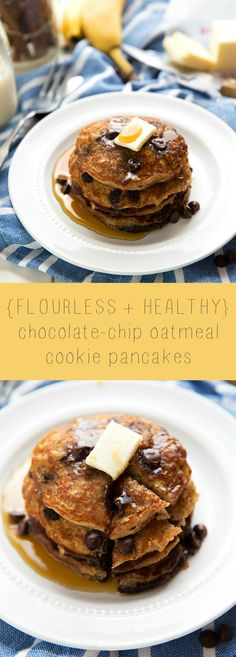 Made with Greek yogurt and a mashed banana PLUS oats, these healthy and flourless pancakes are good for you and great tasting!!