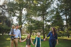 B Family Portrait Session in Lowell Park