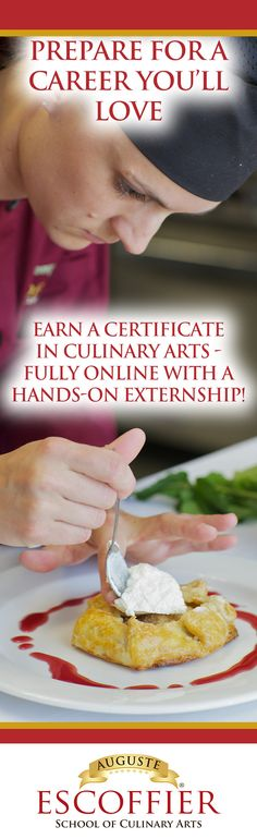 We offer a 100% online, accredited culinary certificate program designed to help you gain the confidence and skills you need to pursue your dreams of training to be a culinary professional or an accomplished at-home chef.