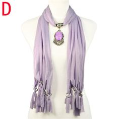 new beauty purple grace pendant long scarf Christmas gift for lover NL-1940D #Welldone #Scarf