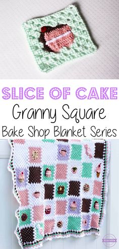 Crochet Slice of Cake Granny Square: Bake Shop Blanket Series | Free Pattern from Sewrella