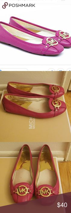 Michael Kors Flats Nice pair of flats.   These are a used pair of Michael Kors Fulton Flats. The shoes does have scuff marks please look at the picture. They are still cute and in good condition.  No box Michael Kors Shoes