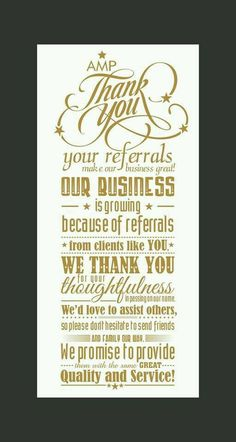 Your referrals make our business great! Our agency is growing because of referrals from our amazing clients like you! We love working with you and you make our business better! Thank you for being so awesome! Salon Business, Real Estate Business, Real Estate Tips, Real Estate Marketing, Business Nails, Business Help, Business Gifts, Business Ideas, Salon Quotes