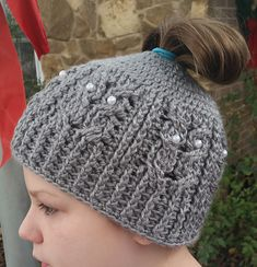 Ravelry: Owl Be A Messy Bun Beanie pattern by Knots of Love from Jess