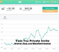 THIS IS POSSIBLE FOR YOU TO ACHIEVE AS WELL im not showing you this to brag or show off, cause lets face it $43 is not a not of money.....   but this is $43 from social media .....   how much has Facebook ever paid you? or Twitter or maybe Instagram? .....   Join here --> www.tsu.co/janice. 100% free & legit.