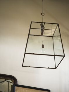 "Custom-Made, Iron and Glass, Single-Bulb ""Lorain"" Lantern image 3"