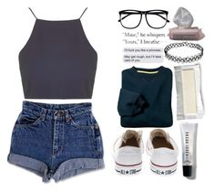 She was also beautiful by hannaczerny on Polyvore featuring polyvore fashion style Topshop Converse H&M Bobbi Brown Cosmetics The Body Shop clothing