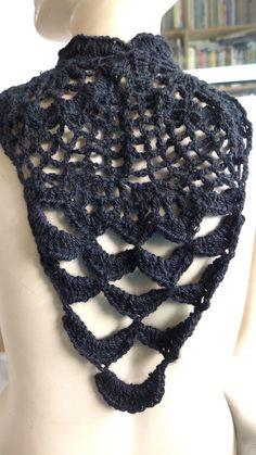 HANDMADE CROCHETED BLACK  ACRYLIC  WOOL  STATEMENT NECKLACE ARTISTIC PATTERN   Jewelry & Watches, Fashion Jewelry, Necklaces & Pendants   eBay!