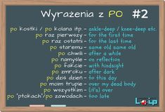 Dzisiaj przyjrzymy się angielskim odpowiednikom niektórych fraz z przyimkiem PO, np.: po zmroku, po chwili i po fakcie. English Grammar Tenses, English Idioms, English Words, English Vocabulary, English Study, English Class, English Lessons, Education English, Teaching English