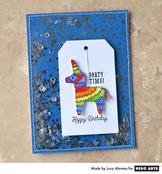 Lucy's colorful piñata shaker card is more fun than you can shake a stick at!