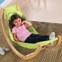 My girls would love this! Indoor Hammock, Playroom Furniture-Leaps and Bounds Kids - #OSAHammock