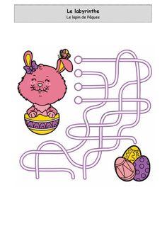 Le lapin de Pâques n°2 - Labyrinthe