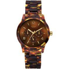 GUESS Watch, Women's Tortoise Watch