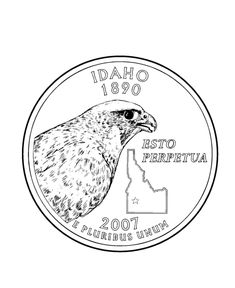 Oregon state flag printable print the resulting page for Idaho state flag coloring page