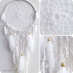 The White Arctic Fox Native Woven Dreamcatcher by eenk on Etsy, $119.00