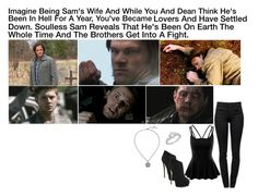 """""""Imagine Being Sam's Wife And While You And Dean Think He's Been In Hell For A Year, You've Became Lovers And Have Settled Down. Soulless Sam Reveals That He's Been On Earth The Whole Time And The Brothers Get Into A Fight."""" by alyssaclair-winchester ❤ liked on Polyvore featuring SAM, Doublju, Proenza Schouler, Giuseppe Zanotti, Allurez, imagine, supernatural, samwinchester and DeanWinchester"""