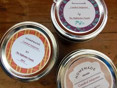 Free Printable Canning Jar Labels - 3 designs to choose from. All fully-customizable.