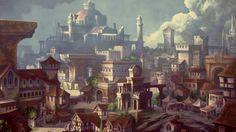 Dungeons & Dragons Neverwinter Concept Fantasy city Dwarven city Fantasy concept art