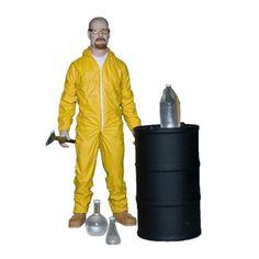 Figura Breaking Bad Walter White Hazmat 15 cm. Suit Edition. Mezco Toys
