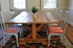 Reclaimed Barnwood Dining Room Table by erwinrenovation on Etsy, $750.00