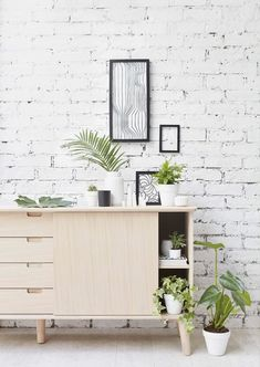 Our beautiful solid oak CASO sideboard, styled by Jo Bailey and photographed by Kristy Noble... botanical style at its best www.outandoutoriginal.com