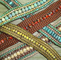 5 and 7 row leather wrap bracelets..tutorial