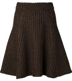 Proenza Schouler cable knit A-line skirt
