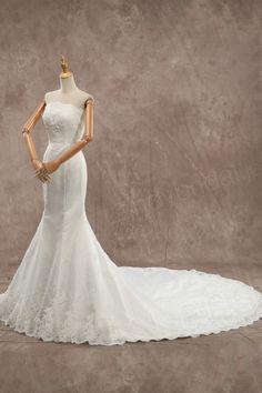 ウェディングドレス ビスチェ マーメイド 豪華なレース ロングトレーン ld3519 価格 ¥73,980